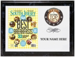 "Custom 9"" x 12"" full color express image on a black marbleized wood plaque. Your ""Best Of"" category article cover, logo and your business name are expertly laid out on this plaque in a horizontal layout as shown. Please enter your company name in the special instructions box below.